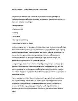 Kompetanseutvikling i Norwegian | Caserapport
