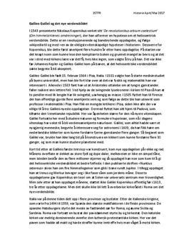 Galileo Galilei og det nye verdensbildet | Artikkel