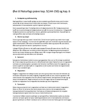 Kapittel 5 & 6 i Kosmos YF | Sammendrag