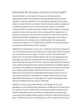 Den industrielle revolusjon - fordeler og ulemper? | Artikkel
