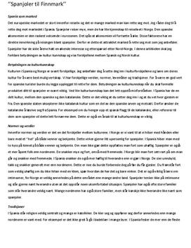 Spanjoler til Finmark | Temaoppgave