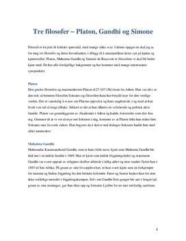 Platon, Gandhi og Simone | Sammendrag