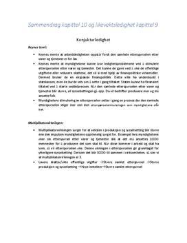 Konjunkturledighet og likevektsledighet | Sammendrag