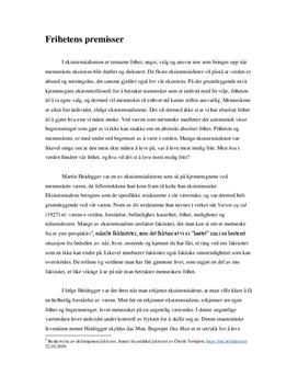 Væren og tid av Martin Heidegger | Drøftende tekst