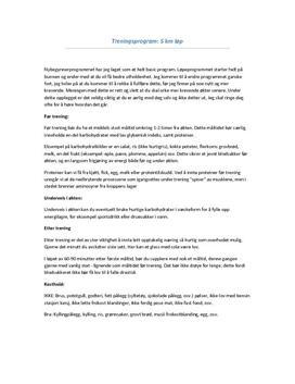 Treningsprogram for 5 km løping | Øktplan