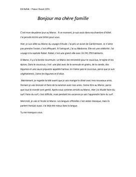 Fransk brev: Au Maroc