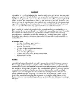 Anoreksi og bulimi
