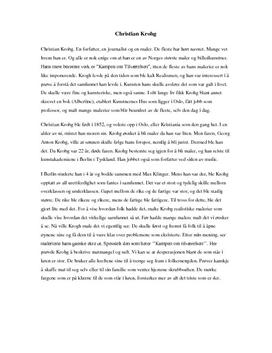 Christian Krohg: Biografi