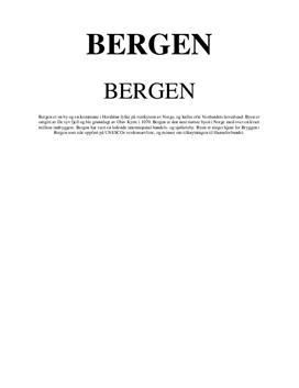 Geofag prosjekt Bergen