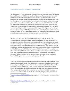 the kite runner essays on deceit