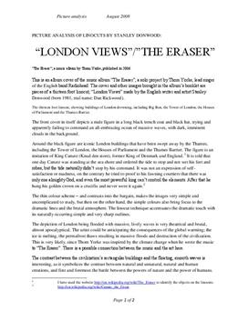 Bildeanalyse av The Eraser/London Views