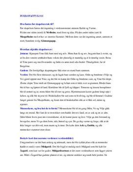 Begreper og forklaringer i norrøn mytologi | Sammendrag