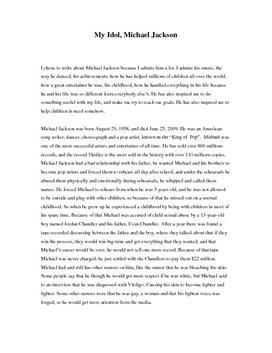 Essay on michael jackson