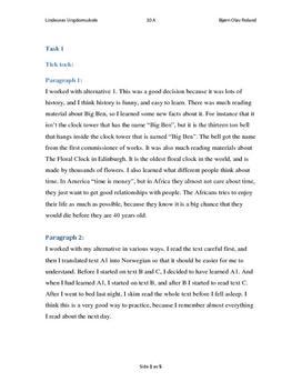 Engelsk tentamen Ungdomsskolen