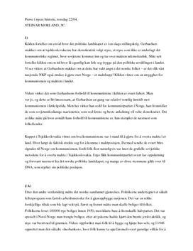 Kommunismens fall og Norges vekst - etterkrigstid