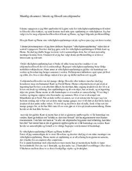 Erkjennelsesfilosofi - muntlig eksamen