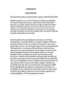 Maleri og arkitektur i barokken | Presentasjon