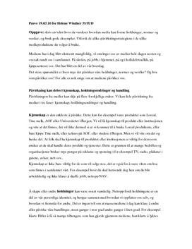 Hvordan media former holdninger, normer og verdier