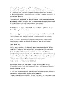 Språkdebatten i Norge på 1800-tallet   Artikkel