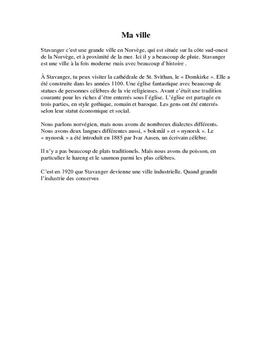 Fransk tekst om Stavanger