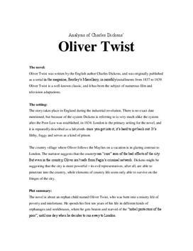 Analysis of Oliver Twist