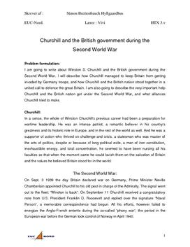 Churchill and the British government during the Second World War