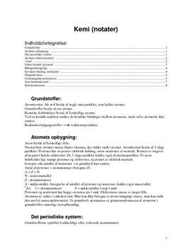 Kjemi (notater)