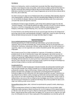 Deal.no | Segmentering, situasjonsanalyse og SWOT-analyse