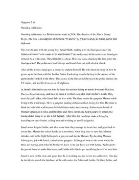 book report on slumdog millionaire