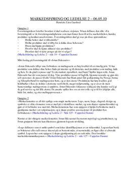 Tentamen i Markedsføring og Ledelse 2 - Jotun Dekorativ