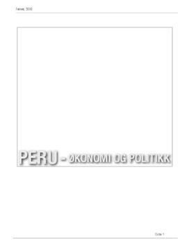Peru - Økonomi og Politikk