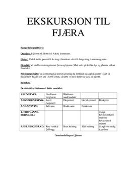 Biologi eksursjon - Fjæra