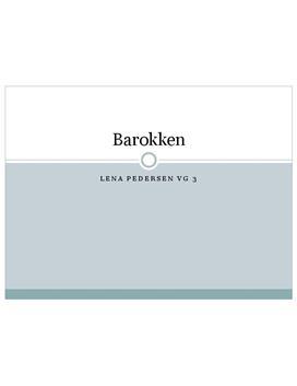 Presentasjon om Barokken