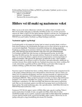 Hitler til makten og nazismens vekst