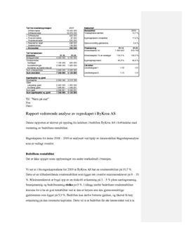 Analyse av regnskapet i ByKroa AS   Rapport