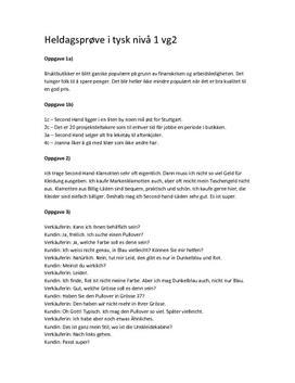 Heldags i tysk om bruktbutikker / Second-Hand-Klamotten