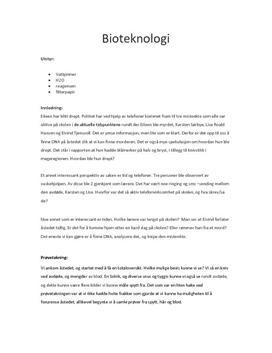 Bioteknologi etterforskning
