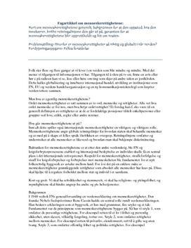 Menneskerettigheter | Fagartikkel