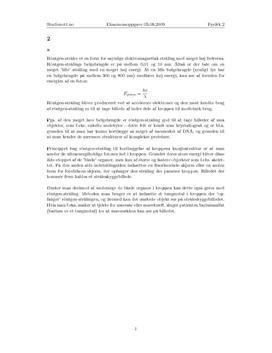 Oppgave 2 - eksamen i Fysikk 2 våren 2009