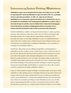 Spåk og litteratur i middelalderen