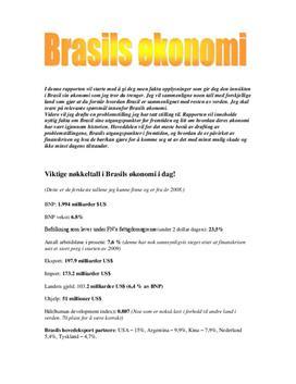 Analyse av Brasils Økonomi