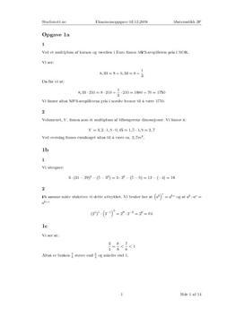 Løsningsforslag - eksamen i Matematikk 2P