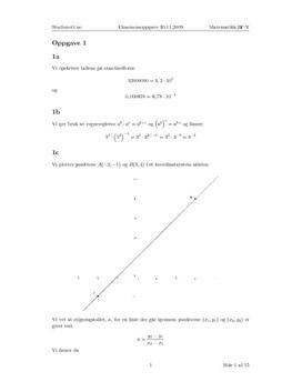 Løsningsforslag - eksamen i Matematikk 2P-Y høst 2009