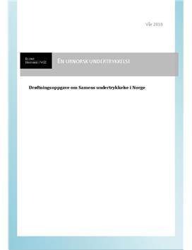 Drøftningsoppgave om Samens undertrykkelse i Norge
