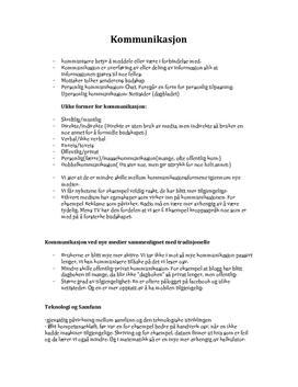 Kommunikasjon sammendrag - Individ, kultur og samfunn