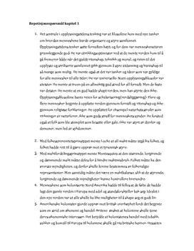 Opplysningstid og revolusjoner repetisjonsspørsmål