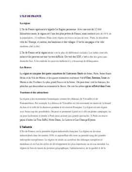 Region presentasjon: L'Ile-de-France