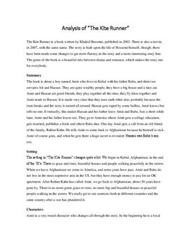 essay questions on the kite runner Answers to 60 short essay questions that require students to understand and interpret the kite runner.