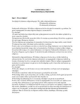 Tro og tanke | Sammendrag av kap. 1-5