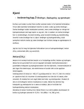 Innlevering kap.3 Bindinger, Oppbygning  og egenskaper